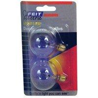 Long Candelabra Life (Feit Electric Bp25g16-1/2 25 Watt Clear Long Life Vanity Globe Light Bulb 2 Count)