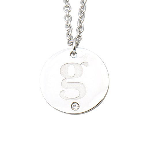 Love Wind Silver Initial Necklaces Rhinestone Charm G Jewelry A to Z Womens Girls (Letter G Costume Ideas)