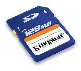 (Kingston 128 MB Secure Digital Memory Card (SD/128) (Retail Package))