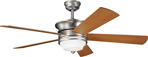 Kichler 300114NI 52-Inch Hendrik Fan, Brushed Nickel