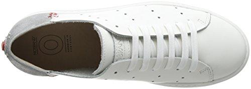 White Derby 01 Scarpe Silver nobrand Bianco Donna Grit Stringate FHx4n6qwYt