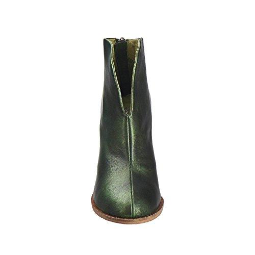 Antelope Donna 898 In Pelle Metallizzata Hi-cut Con Bottino Verde