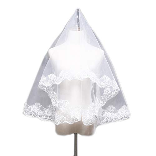 Veils Wedding Discount (Ivory Veils For Brides Long Wedding Veil Embroidered Headpieces Wedding Veil)