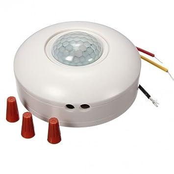 Tanzimarket - De alta calidad de 360 grados Interruptor sensor de movimiento PIR Interruptor Detector Sensor
