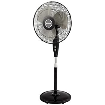 Amazon Com Holmes 16 Quot Stand Black Fan Adjustable Height