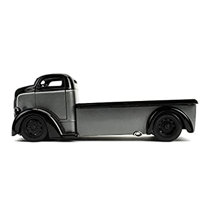 1947 Ford COE Flatbed Tow Truck Gray and Black with Extra Wheels Just Trucks Series 1/24 Diecast Model Car by Jada 31540: Toys & Games