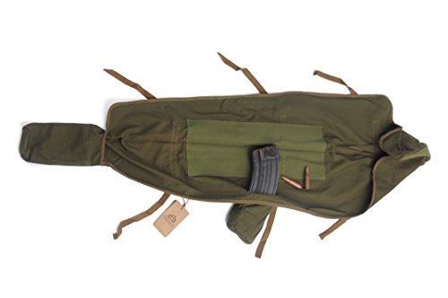 Cool Shiny SPORT LIGHT LLC (Very Rare China Army) Chinese-Army-Type-56-81-Gun-Bag-AK-Cover-Canvas-AK-Rifle-Cover-Ammo-Pouch-104CM