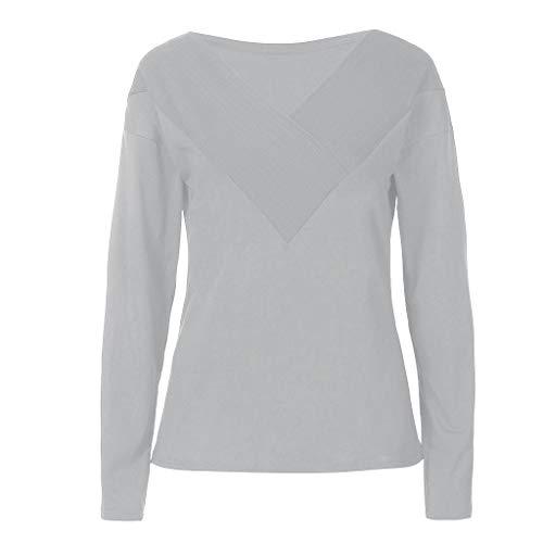 YOcheerful Women T Shirt Women's Shirt Tee Solid Workwear Top Blouse Casual Office Work wear T Shirt Jumper Tunic