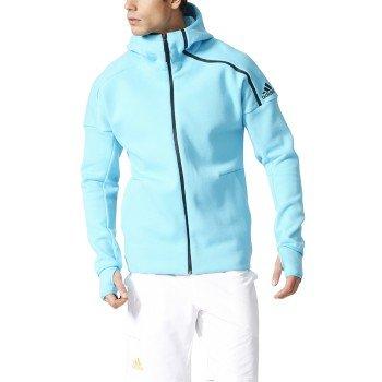 Adidas Z.N.E Men's Hoodie (Samba Blue/Black) (Medium)