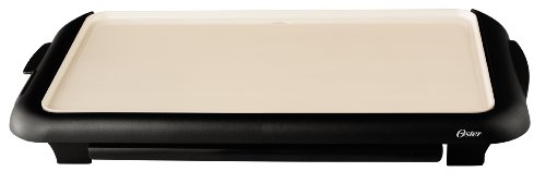 Oster Titanium Infused DuraCeramic Griddle with Warming Tray, Black/Crème (CKSTGRFM18W-TECO) by Oster (Image #12)