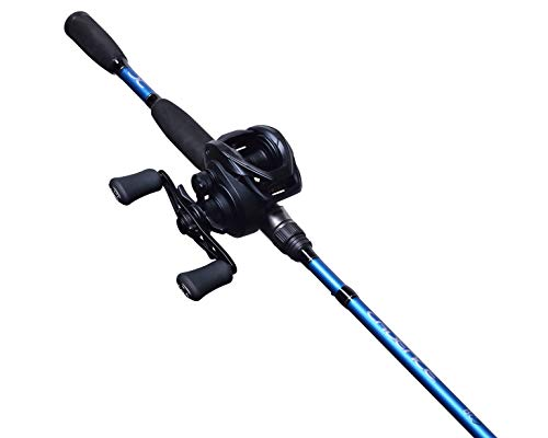 Cadence Baitcasting Combo, BC5 Baitcaster Combo Rod and Reel Combo, 7ft 24 Ton Graphite Rod Blank, 2 Piece Split Design, 20 lbs Carbon Fiber Drag Reel & Rod Fishing Combo