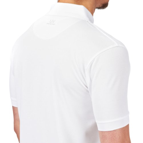 Henri Lloyd Fast Dri Silver Plain Polo in Optic White Y30282