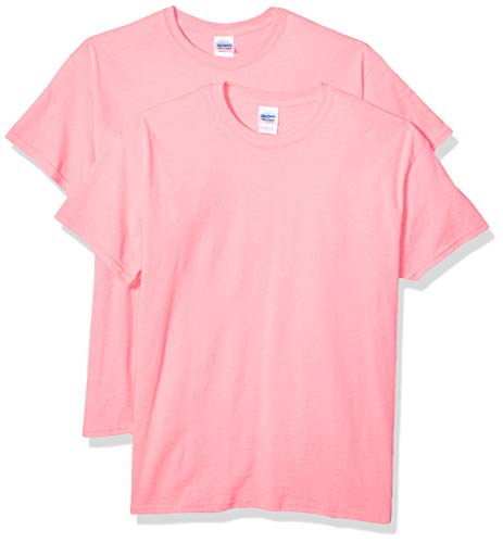 - Gildan Men's G2000 Ultra Cotton Adult T-Shirt, 2-Pack, Safety Pink, Large