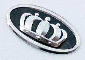 Emblema 3d VIP V.I.P. Corona para Kia Sportage (Modelos 2010 – 2015 para volante cromo