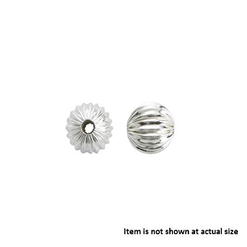 925 Sterling Silver 4mm Corrugated Round Beads -