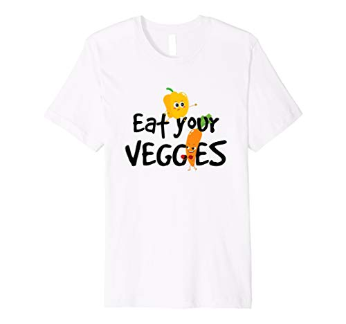 Carrots Eat - Eat Your Veggies, Carrot and Bell Pepper Funny Gift TShirt