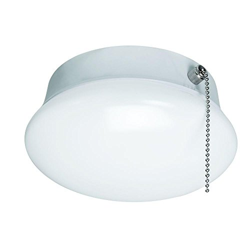 7 In. Bright White LED Ceiling Round Flushmount Easy Light with Pull Chain