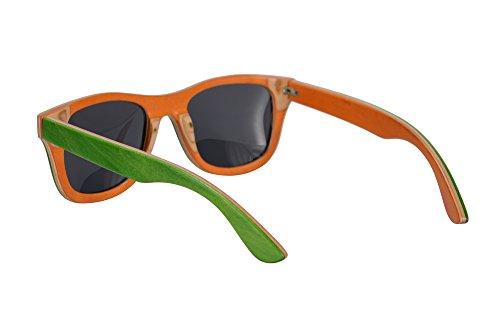 en de Green air Protection Lunettes Plein Sports Bois orange de Main Soleil Lunettes UV400 SHINU Polarisees Z68004 la SkateWood Summer Grey a Lunettes Soleil de BqIaHawT