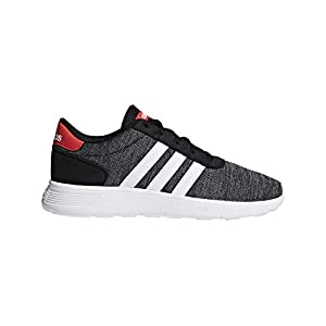 adidas Lite Racer K Black/White/Red Running Shoes (F35530)