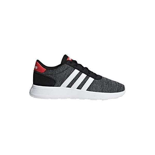 adidas Lite Racer K Black/White/Red Running Shoes (F35530)
