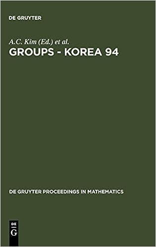 Groups - Korea 94 (De Gruyter Proceedings in Mathematics
