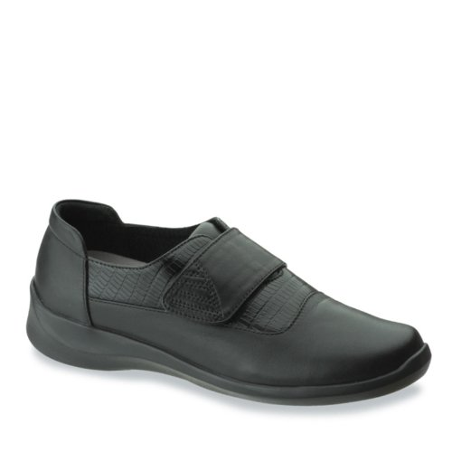 Aetrex Women's Frances Textured Leather Strap Black eastbay online clearance sneakernews NvWz3MAmD