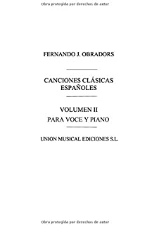 Canciones Clasicas Espanolas - Volumen II: Voice and Piano