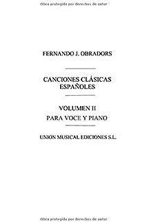Canciones Clasicas Espanolas - Volumen II: Voice and Piano