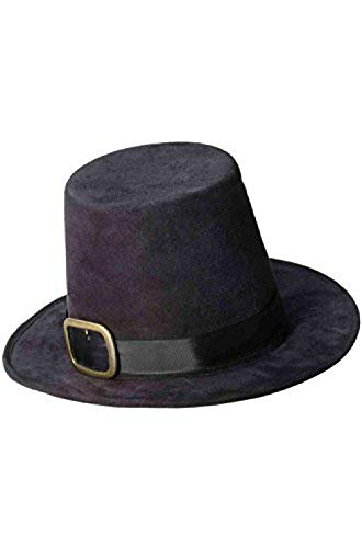 Forum Novelties Super Deluxe Pilgrim Hat Black/Gold -