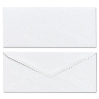 Mead Products - Plain Envelopes, Gummed, No 10, 50/BX, White - Sold as 1 BX - Plain white envelopes are ideal for use in the home or at the office.