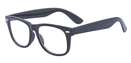 ALWAYSUV Black Myopia Glasses Shortsighted Nearsighted Eyeglasses for Men Women ()