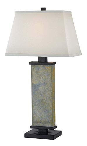 Lamp Rustic Lamps Table Plus (Kenroy Home 21037SL Hanover Table Lamp, 29 Inch Height, 15 Inch Width, 9.5 Inch Length, Natural Green Slate)