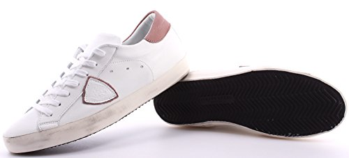 Zapatos Sneakers Hombre PHILIPPE MODEL Paris Classic Veau White Rose Blanco ITA