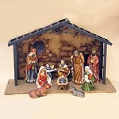 Kurt Adler Porcelain 10-Piece Nativity Set, 3.5-Inch to 5-Inch