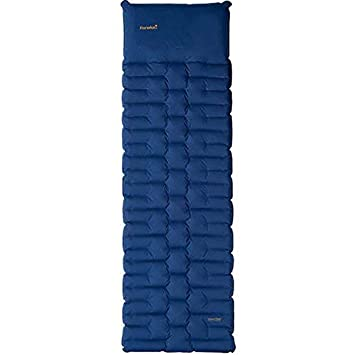 Eureka Super Cush Inflatable Camping Sleeping Pad with Integrated Pump, 78 by 25 Inches, Large, Blue