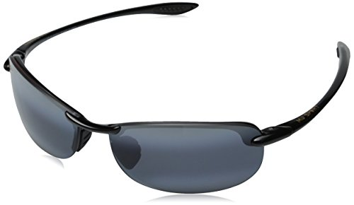 Light 1 Outdoor Hookipa - Maui Jim Makaha Sunglasses,Gloss Black Frame/Neutral Grey Lens,one size