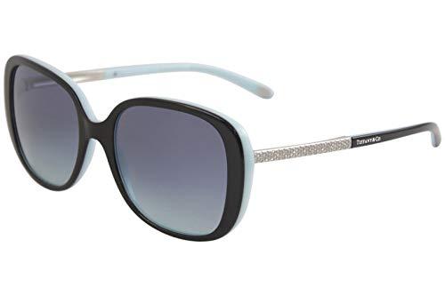 - Tiffany & Co. TF4137B - 80559S Sunglasses BLACK/BLUE w/ AZURE GRADIENT BLUE Lens 54mm