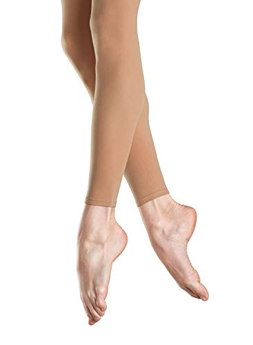 (Bloch Dance Girls Endura Footless Tights,Light Tan, Child Medium)