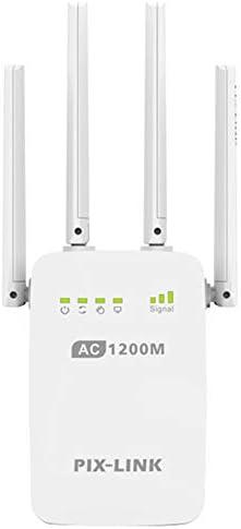 ワイヤレス信号リピータ、4つの回転式アンテナ付きポータブルAC1200MWiFiシグナルアンプ、あらゆる種類のワイヤレス機器に適しています