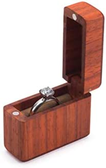 Surenhap ジュエリーボックス 木製 指輪ケース リング収納ボックス ディスプレイボックス アクセサリー展示 携帯用 ピアス イヤリング ネックレス 指輪 ブレスレット 収納