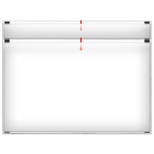 Clear Title Pocket - StoreSMART - Document Holder with Title Pocket - Clear 10-Pack - Landscape - Legal-Size - R491STCM-10