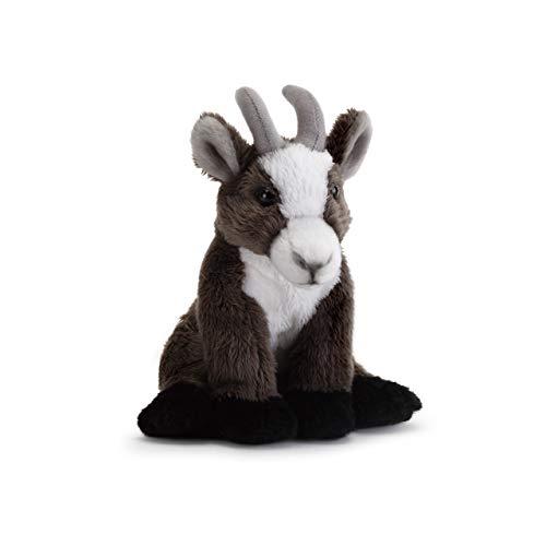 DEMDACO Dark Brown Horned Goat Children's Plush Beanbag Stuffed Animal -