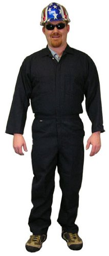 Indura Flame Resistant Coverall (9 Oz.) Size 5XL Navy Blue Color - Indura Flame Resistant Coverall