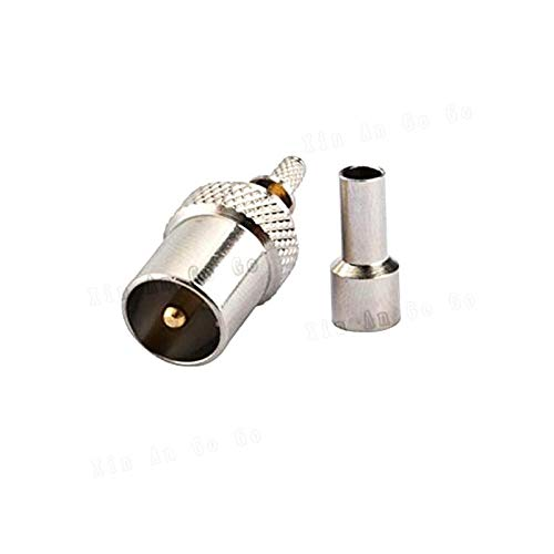 RCA Male Crimp RF Coxial Connector RCA TV IEC Male Plug Straight Crimp for RG316 RG174 LMR100 coaxial Cable