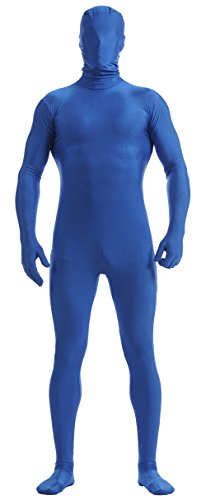 Ensnovo Mens Full Body Tights Suit Costumes Lycra Zentai Bodysuit Royal Blue, L ()