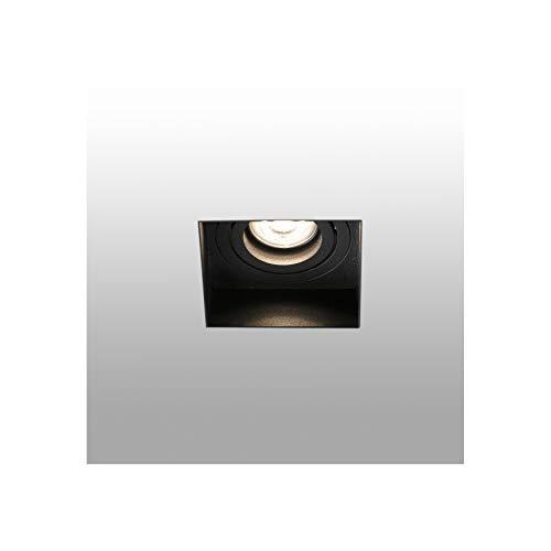 Faro Barcelona 40113 - HYDE Lampara empotrable negro cuadrado orientable sin m