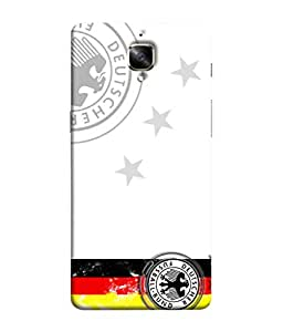 ColorKing Football Germany 28 White shell case cover for OnePlus 3T