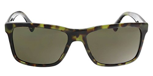 Prada PR19SS Sunglasses LAB4J1-59 - Green Havana Frame, Dark Green - Prada Eyewear Men