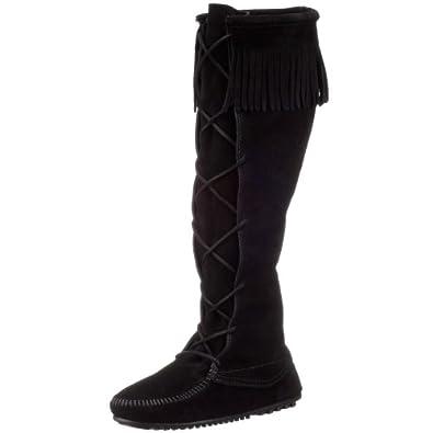 Amazon.com | Minnetonka Women\'s 1429 Front Lace Knee-High Boot ...