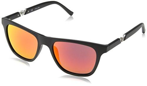 Police Wayfarer Style Sunglasses in Matte Black Red Mirror S1800 703R - Police Sunglasses Men 2012 For